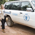 KATE WITH WORLD FOOD PROGRAM SUV